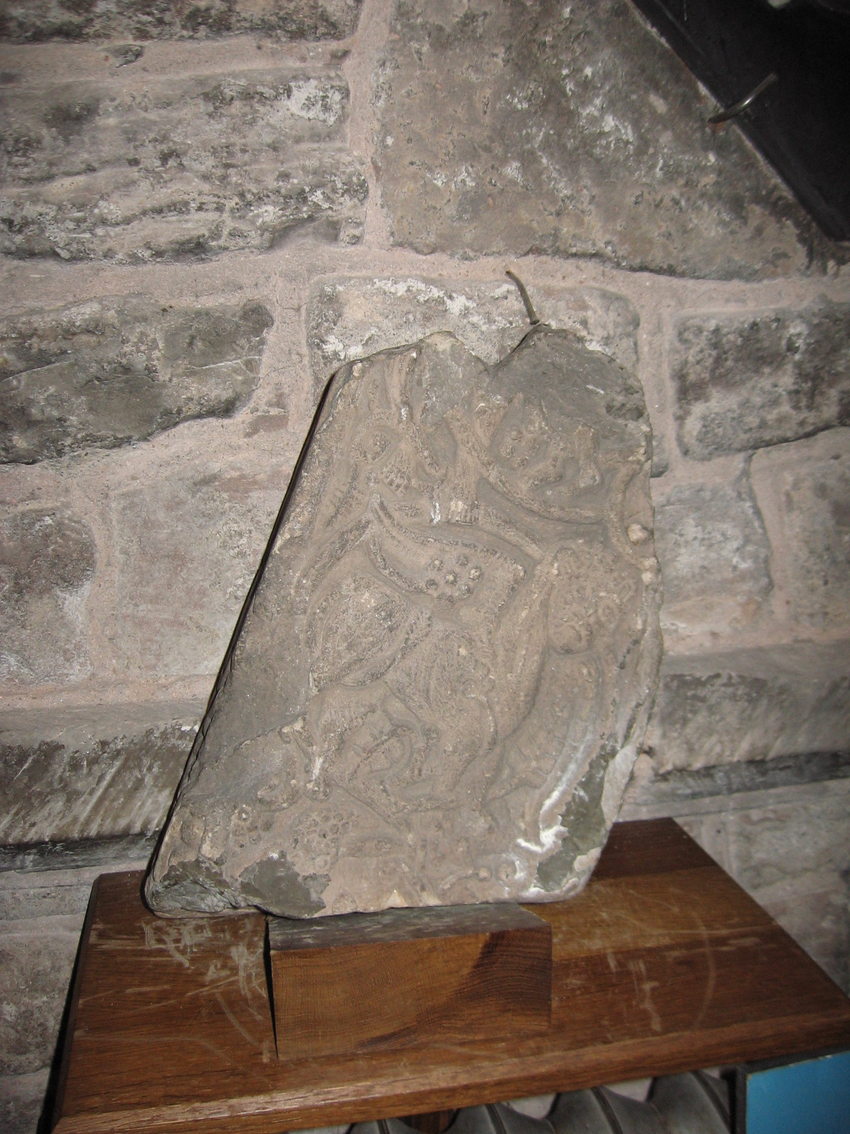 Dacre church viking cross segment