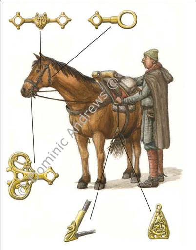 Viking horse harness equipment