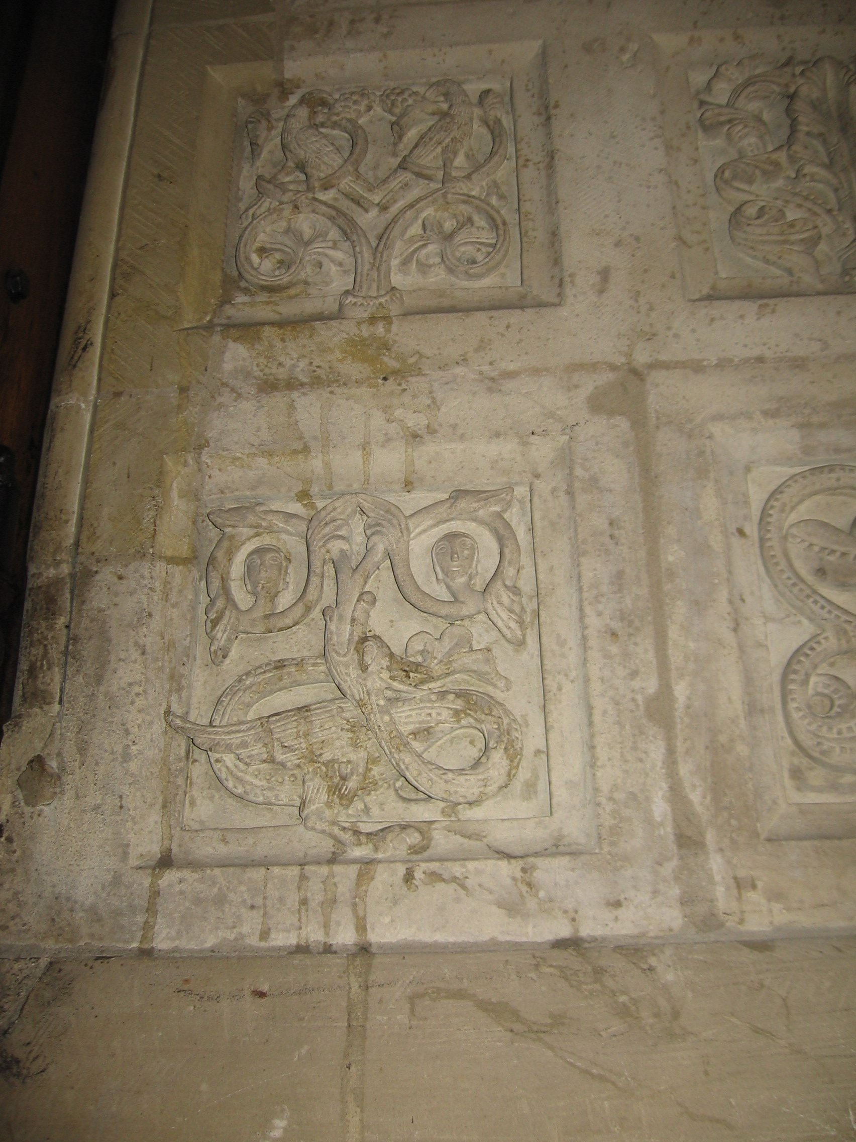 Romaesque stone panel in church Munster