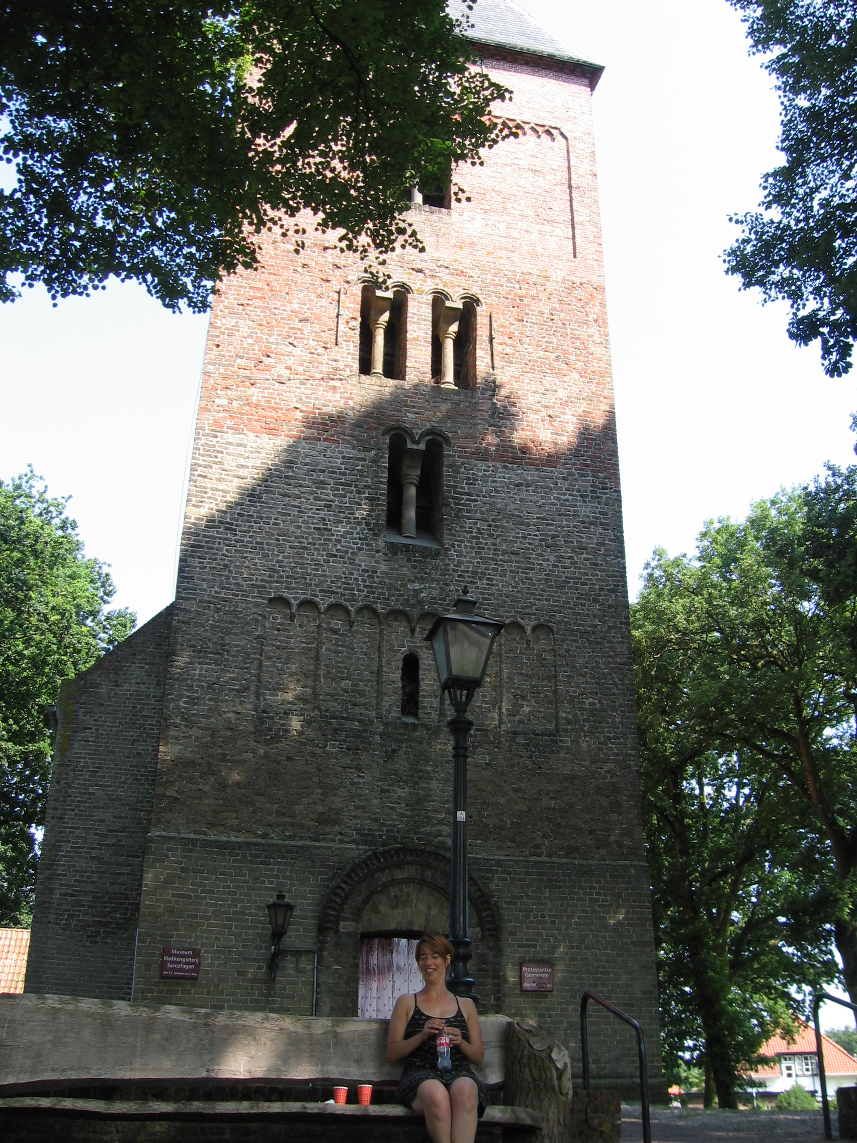 Romanesque tower of church at Vries