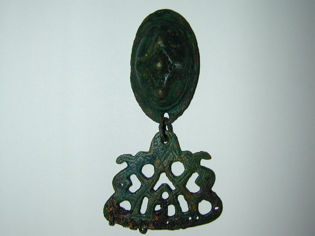 Latvian viking tortoise fibula with hanger