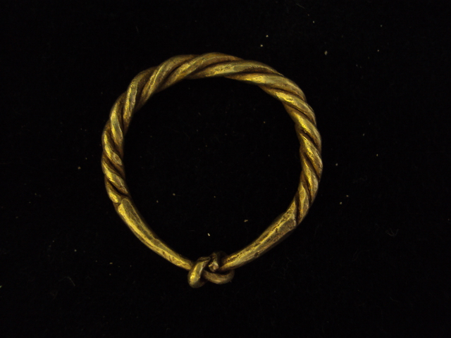 Viking golden twisted ring