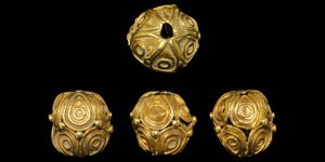 Scandinavian viking golden beads