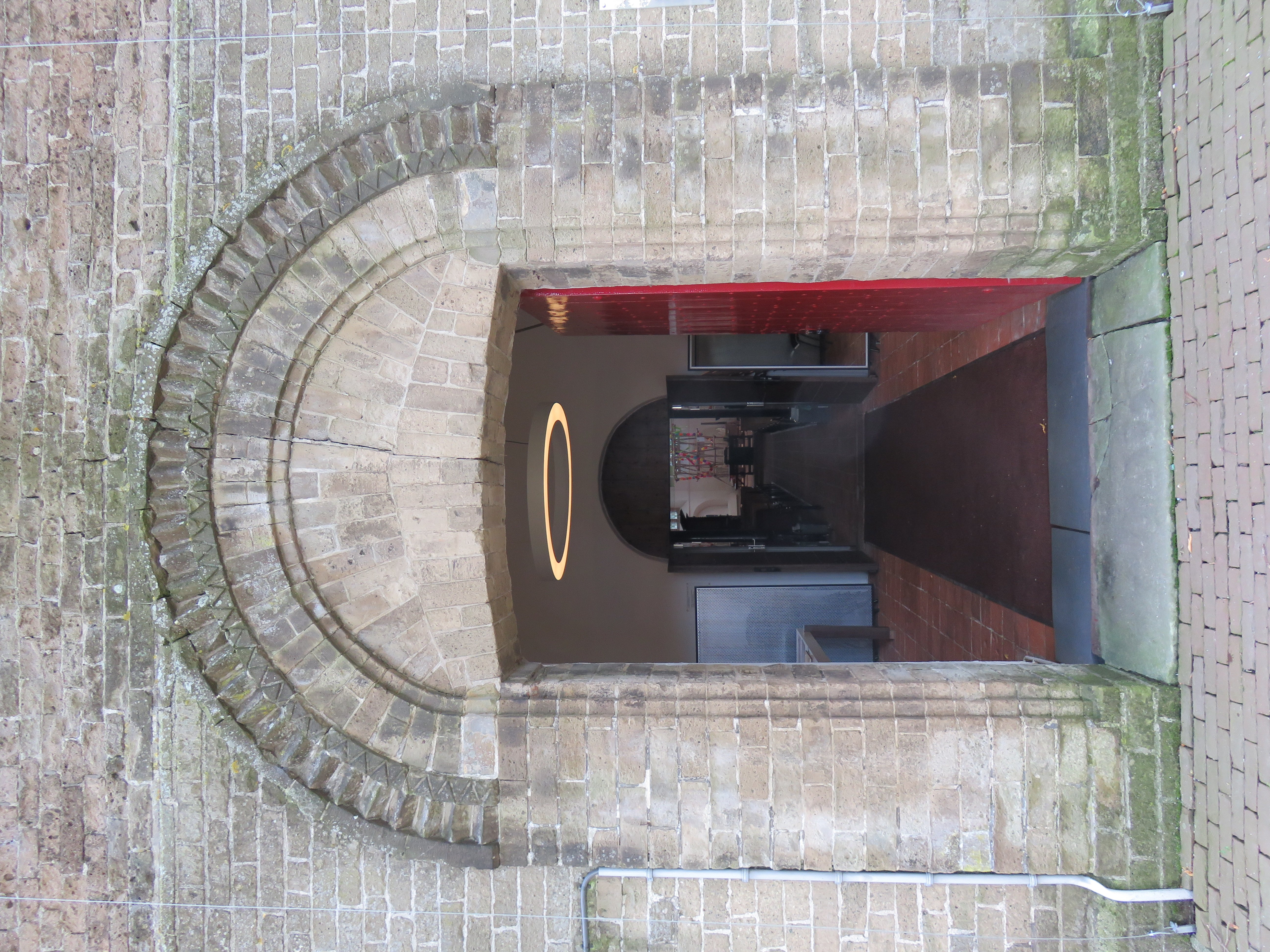 Romanesque portal of church Vries