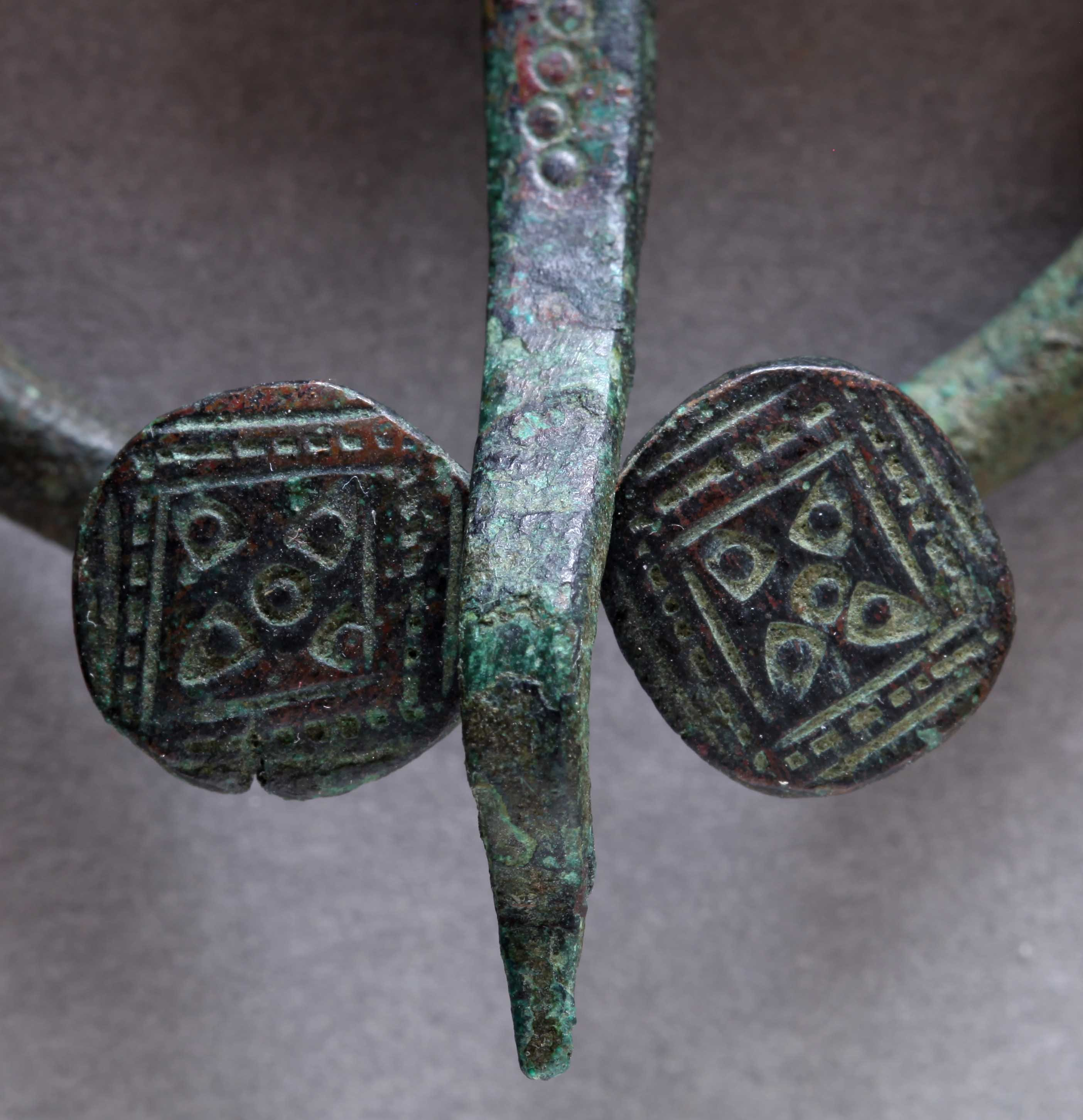 Baltic viking penannular brooch