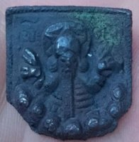 bronze mount with Odin found in Ireland