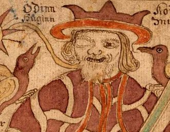 Image Odin from 18th century Icelandic manuscript