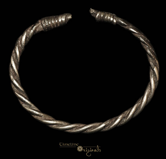 Viking silver twisted bracelet