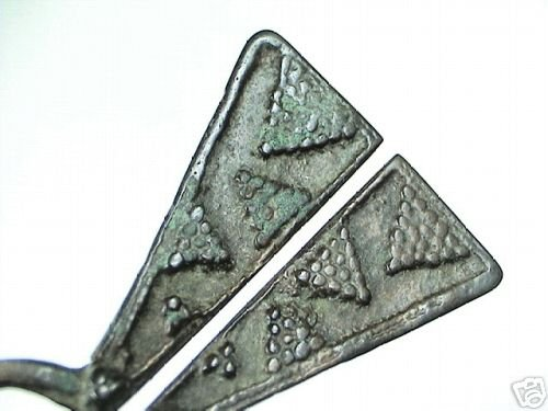Baltic viking fibula brooch