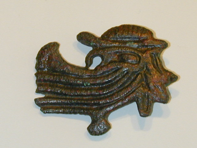 Viking brooch hidden face of Odin