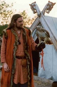 viking with falcon