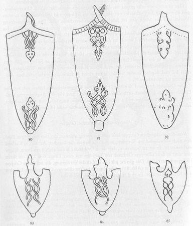 examples for different expressions of chapes beloning to the Varangian-Baltic group