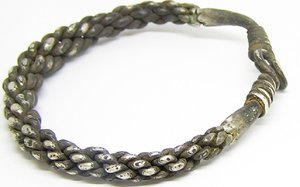 viking braided silver bracelet