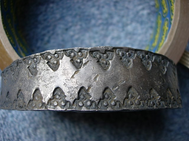 Viking silver 'punched decoration' silver bracelet
